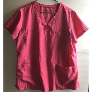 Grey's Anatomy Scrub Top pink size XL